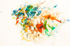 Abstract paper painted watercolor Royalty Free Stock Images