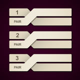 Abstract paper pair infographic Royalty Free Stock Photography