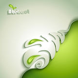 Abstract paper plant Royalty Free Stock Image