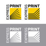 Abstract of paper. Printing services, express print & copy, media center, print house, photo studio. Logo template. Vector illustration Royalty Free Stock Photography