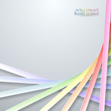 Abstract paper rainbow ribbons Royalty Free Stock Photos
