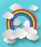 Abstract paper rainbow. Vector illustration. Royalty Free Stock Photography