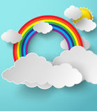 Abstract paper rainbow. Vector illustration. Royalty Free Stock Photos