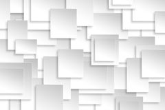 Abstract paper rectangle design silver background texture. Stock Photography