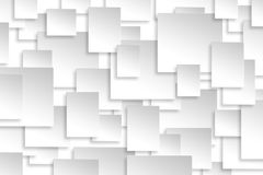 Abstract paper rectangle design silver background texture. Royalty Free Stock Images
