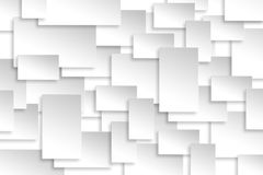 Abstract paper rectangle design silver background texture. Royalty Free Stock Photo