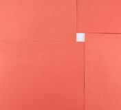 Abstract of paper red square sheet and white space Royalty Free Stock Photos