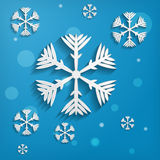Abstract paper snowflakes Royalty Free Stock Image