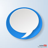 Abstract paper speech bubble Royalty Free Stock Photography
