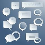 Abstract paper speech bubbles set. Abstract paper speech bubbles icons set for infographics and presentation templates isolated vector illustration Royalty Free Stock Photography