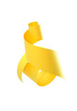 Abstract Paper Spiral. Abstract spiral made from yellow paper. Isolated on white with clipping path Royalty Free Stock Photo