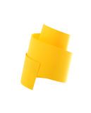 Abstract Paper Spiral. Abstract spiral made from yellow paper. Isolated on white with clipping path Royalty Free Stock Images