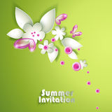 Abstract paper spring flowers Stock Image