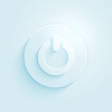 Abstract paper style power button vector icon. Switch off symbol. Stock Image