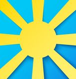 Abstract paper sun on blue sky Stock Photography