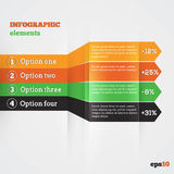 Abstract Paper Template With Arrows For Infografic Stock Photo