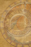 Abstract paper texture with zodiac clock Royalty Free Stock Image