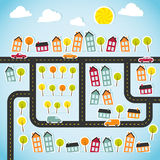 Abstract paper town Stock Photography