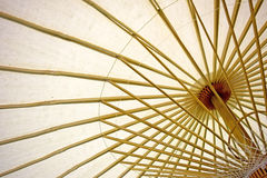 Abstract Paper umbrella and umbrella bamboo frame Royalty Free Stock Photography