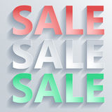 Abstract paper word sale Royalty Free Stock Photography