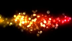 Abstract Particle Background - Loop Orange stock video footage