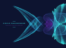 Abstract particle fish shape. Abstract particle with fish shape vector illustration