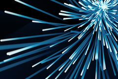 Abstract particles background. Burst lines with lights. 3d rendering Stock Photo
