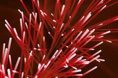Abstract particles background. Burst lines with lights. 3d rendering Royalty Free Stock Photography