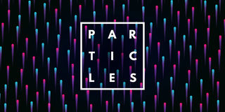 Abstract particles background. Royalty Free Stock Photo