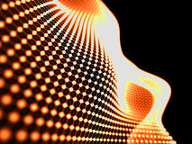 Abstract particles fire background.Technology style. Blur abstra Royalty Free Stock Photo