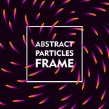 Abstract particles frame gradient Stock Photo