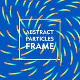 Abstract particles frame gradient Royalty Free Stock Photo