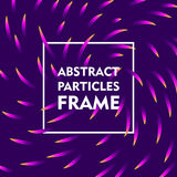 Abstract particles frame gradient Royalty Free Stock Photos