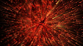 Abstract Particles in 4K. Seamless loop. Computer simulation of particles in 4K resolution stock illustration