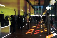 Abstract Party. Corporate party with people as silhouettes Stock Image