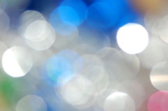 Abstract Party. An abstract background created from a defocused table covered in New Year's Eve decorations stock photography