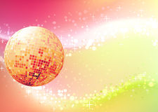Abstract party Background. Vector illustration of abstract party Background with glowing lights and disco ball Stock Photography