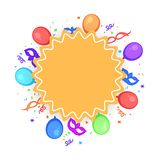 Abstract party background with colorful balloons. Abstract party background with colorful balloons and mask Vector Illustration