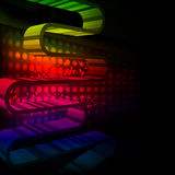 Abstract party background with colorful wave Stock Photo
