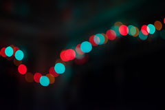 Abstract Party Blur Night Light Defocus Colorful Bokeh on Black Background. Bokeh from Night Light Party Stock Photos