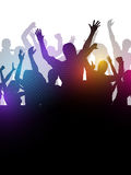 Abstract party crowd. Silhouette of an excited party crowd stock illustration
