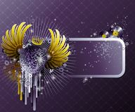 Abstract party design. Royalty Free Stock Photo
