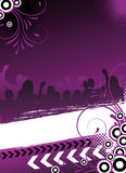 Abstract party flyer Royalty Free Stock Image