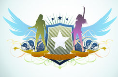 Abstract party insignia Royalty Free Stock Photography