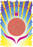 Abstract party poster.Dance background Stock Image