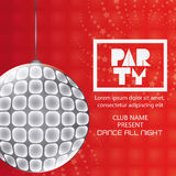 Abstract party poster design royalty free illustration