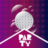 Abstract party poster design stock illustration