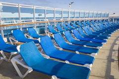 Abstract of Passenger Cruise Ship Deck and Chairs Stock Photo