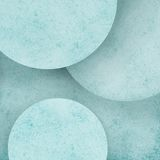 Abstract pastel blue circle geometric background with layers of round circles with distressed texture design Stock Image