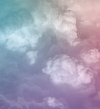 Abstract pastel cloudscape background. Abstract pastel cloudscape in soft background Stock Photo